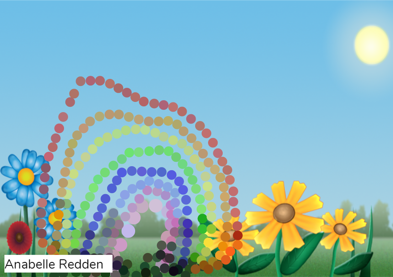 A stunning rainbow and garden- Anabelle R