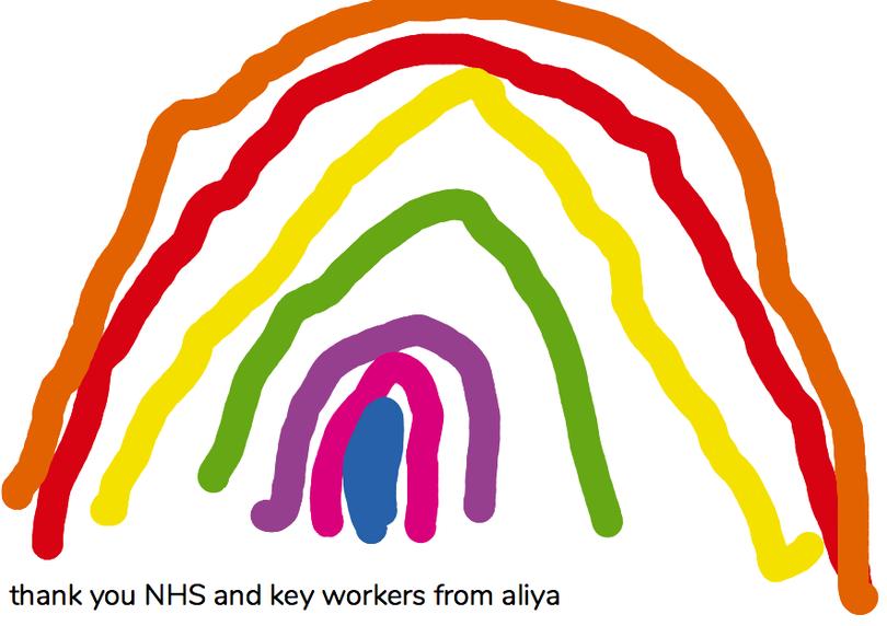 A wonderful message from Aliya of thanks- Aliya Q.