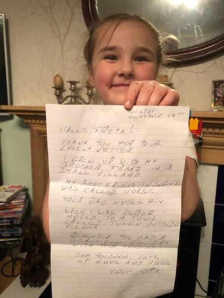 Freya's reply to her letter.