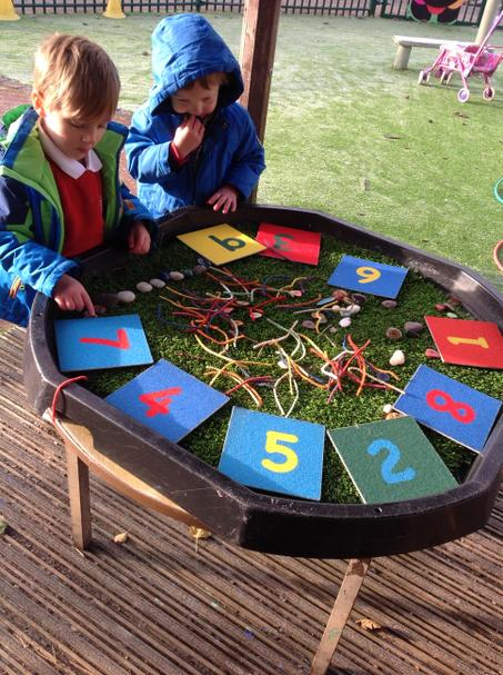 Sorting number of objects.