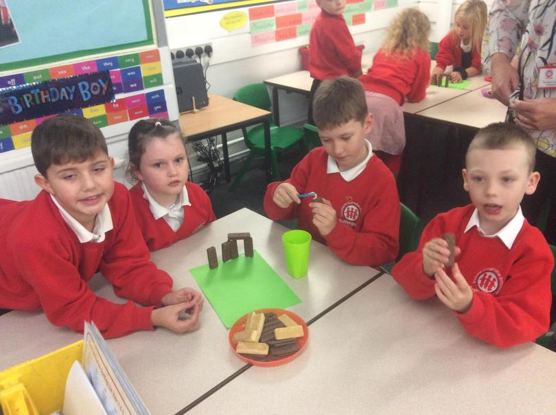 Year 3 creating their very own Stone Henge models
