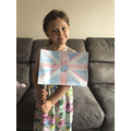 Sienna's wonderful VE day flag.