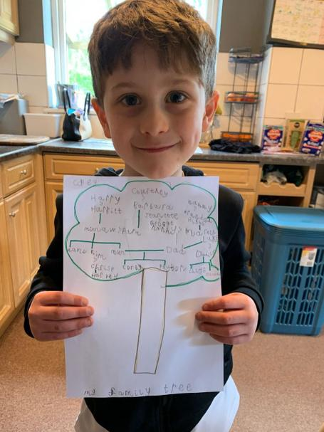 Corey has made a fantastic family tree - great work!