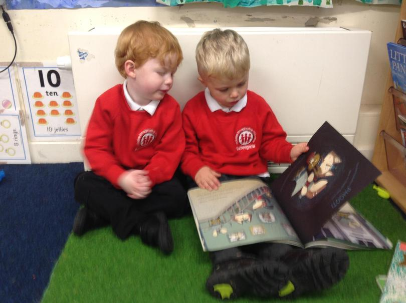 Sharing stories with our friends.