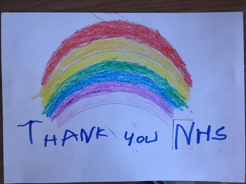 A super rainbow shining bright for NHS workers!