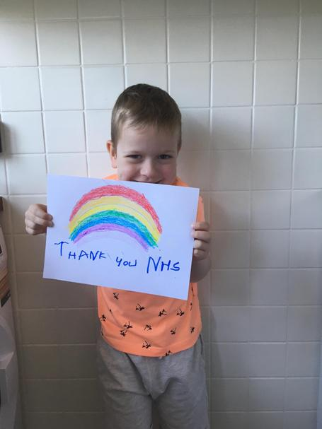 A big thank-you from Riley for NHS workers!