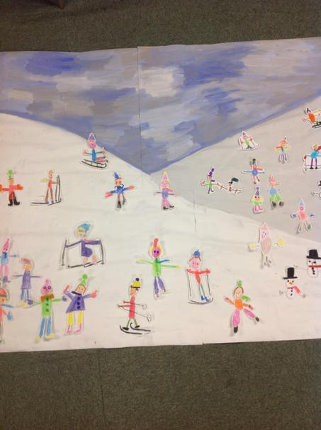 Our own take on Bruegel. Children in the snow!