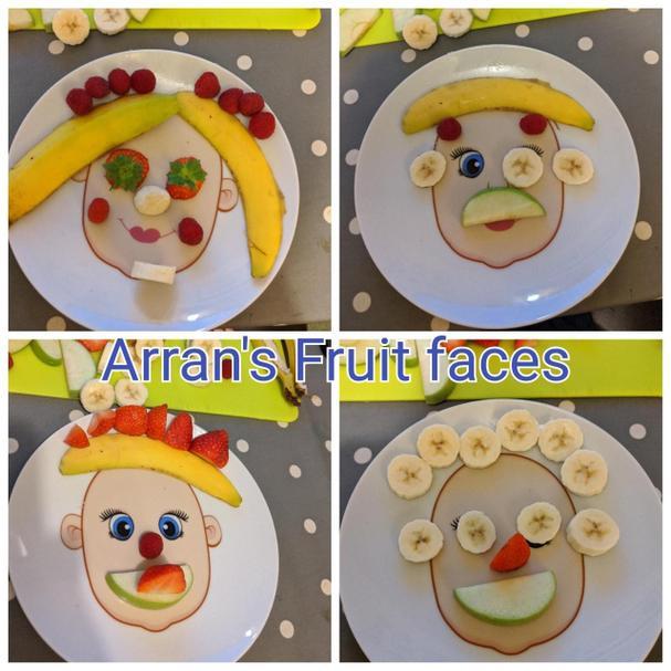 Arran's fruit faces.