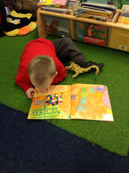Reading our favourite stories.