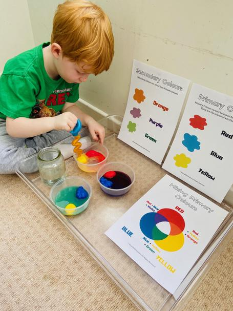 What a super colour mixing experiment Abel.