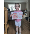 Lilah T's pizza design. Yum yum!