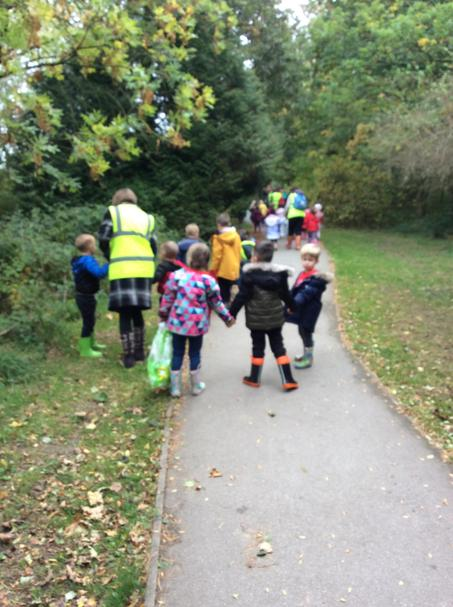 Off on our Autumn walk.