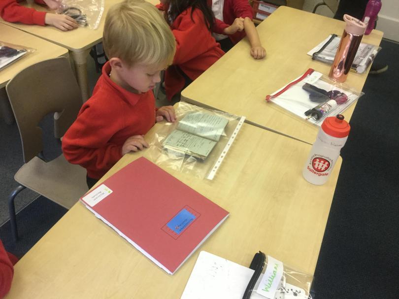 We looked at his RAF log.