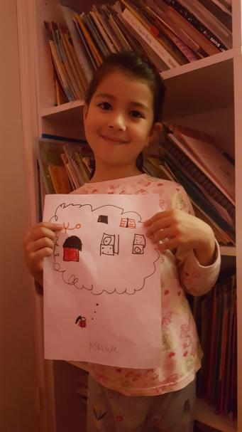 Ashwa drew a picture of one of her memories.