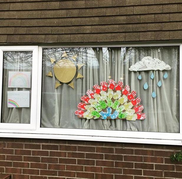 A great window display to say thanks- Amy P
