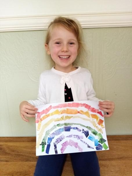 A lovely rainbow and a super smile too.