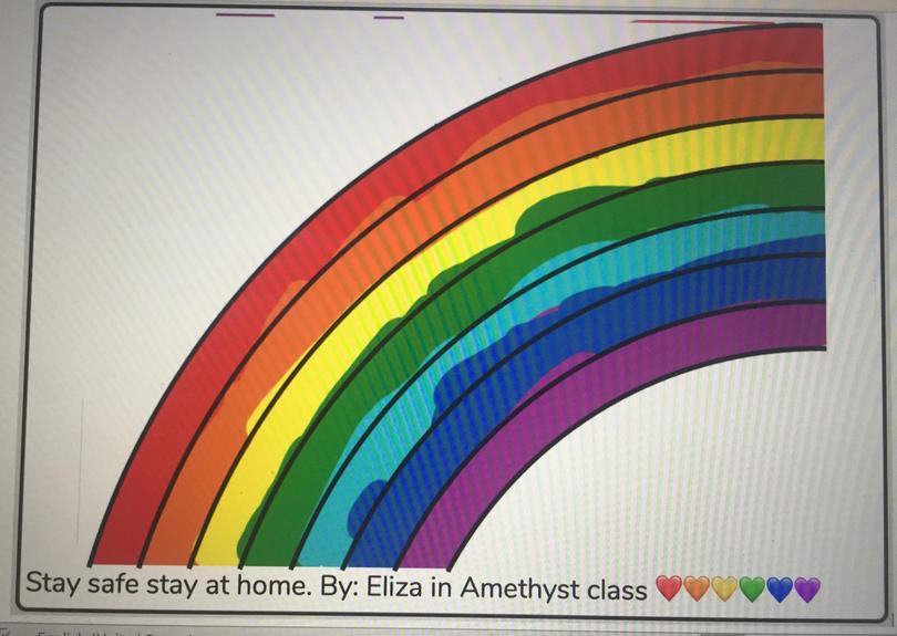 A fabulous rainbow picture. Eliza M