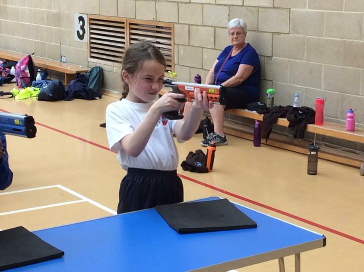 Great concentration from Mia!