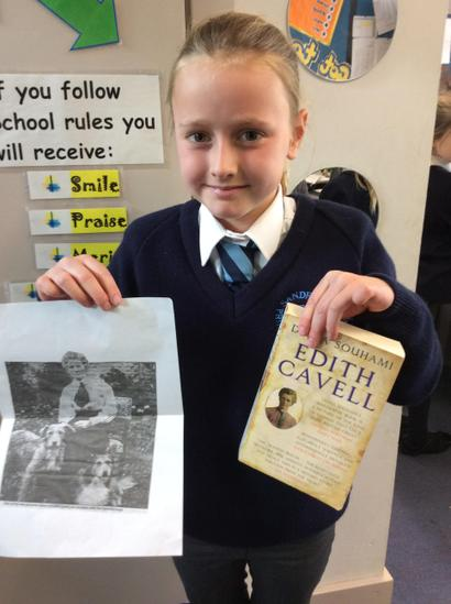 Daisy is related to Edith Cavell!