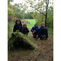 Making rainforest shelters