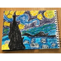 Samuel's brilliant Starry Night picture!