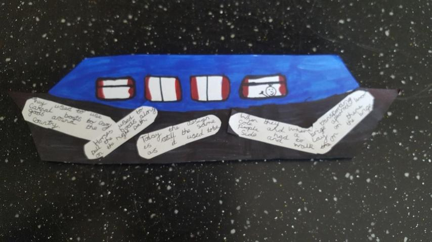 Erin G's piece of work on canal boats