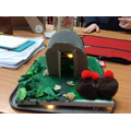Anderson Shelter made by Lewis at home!