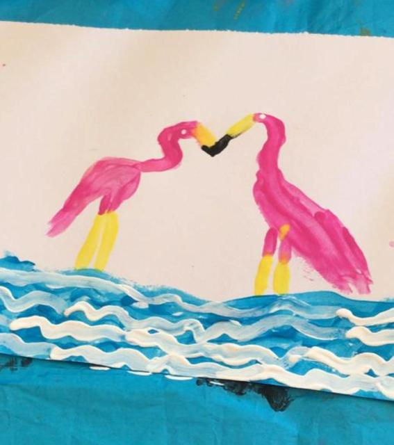 Isobel P's Flamingo Painting