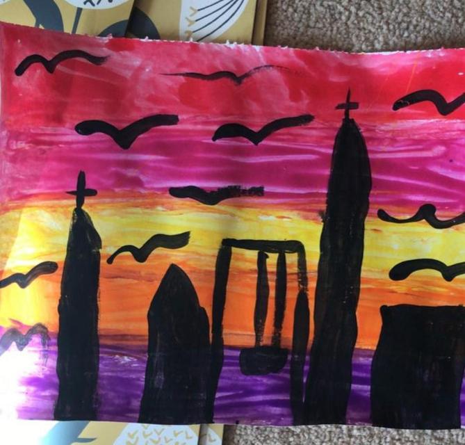 Isobel P's Sunset Painting