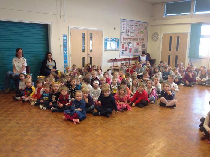 We wore spotty clothes for Children in Need.
