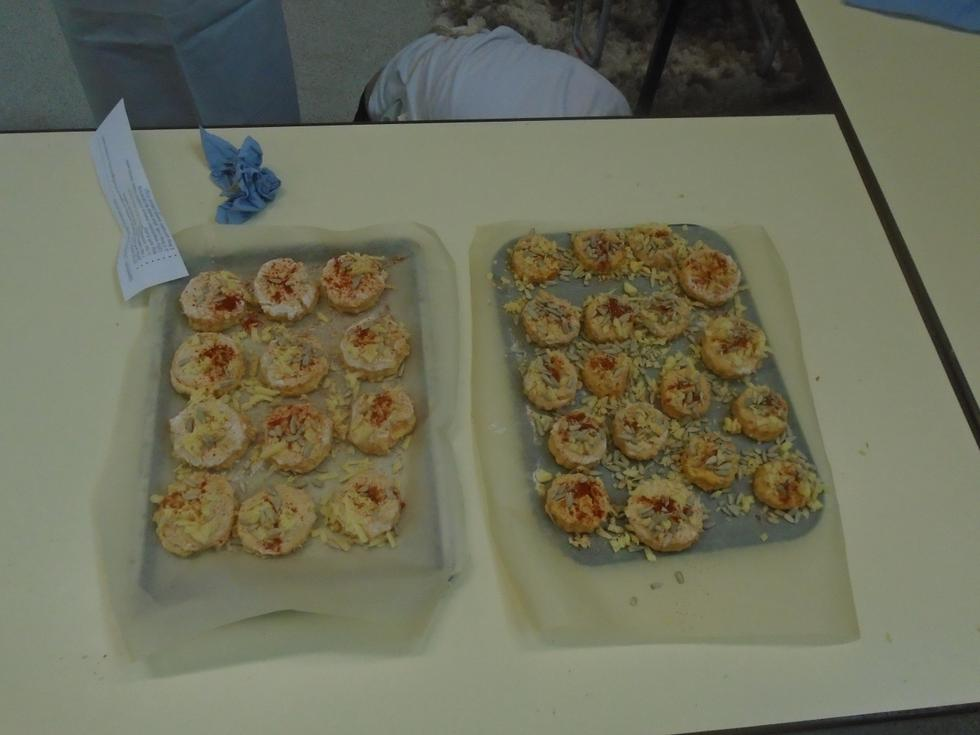 The scones ready for baking!