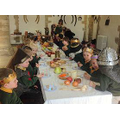 Enjoying a medieval banquet