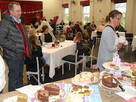 Community tea, organised by the pupils