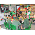 Everyone enjoying the Elf Workshop