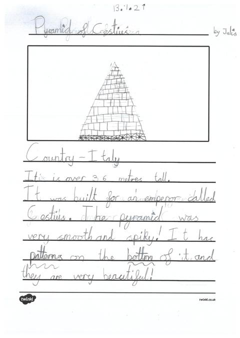Julia's page about pyramids across the world.