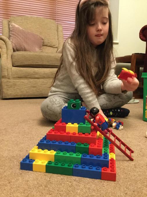 A super colourful pyramid.