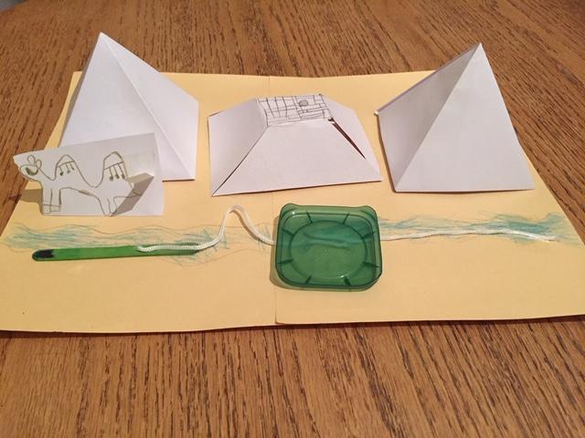 A creative pyramid model by Jack.