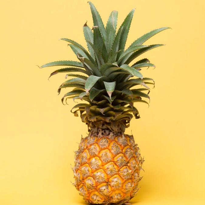 Pineapple - grown in tropical rainforests.