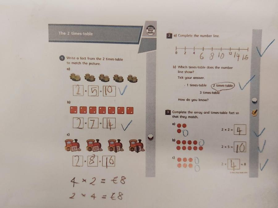 Olivia's lovely maths work - part 1