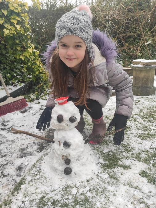 Katherine's super cute snowman!