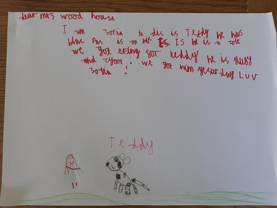 Look at Sofia's amazing letter.