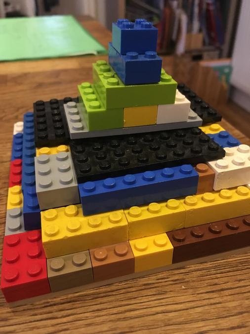 A wonderful lego pyramid by Orla
