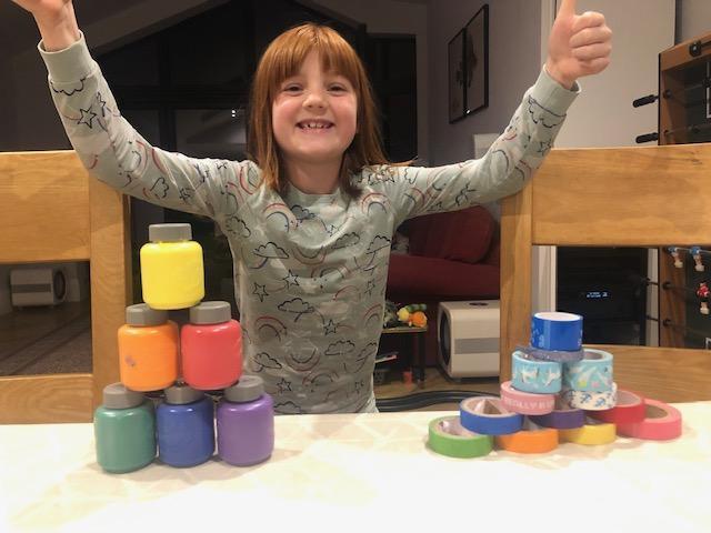 Look at Eva's colourful pyramids!
