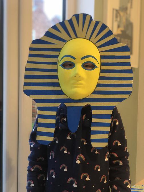 Isla P's amazing Egyptian mask.