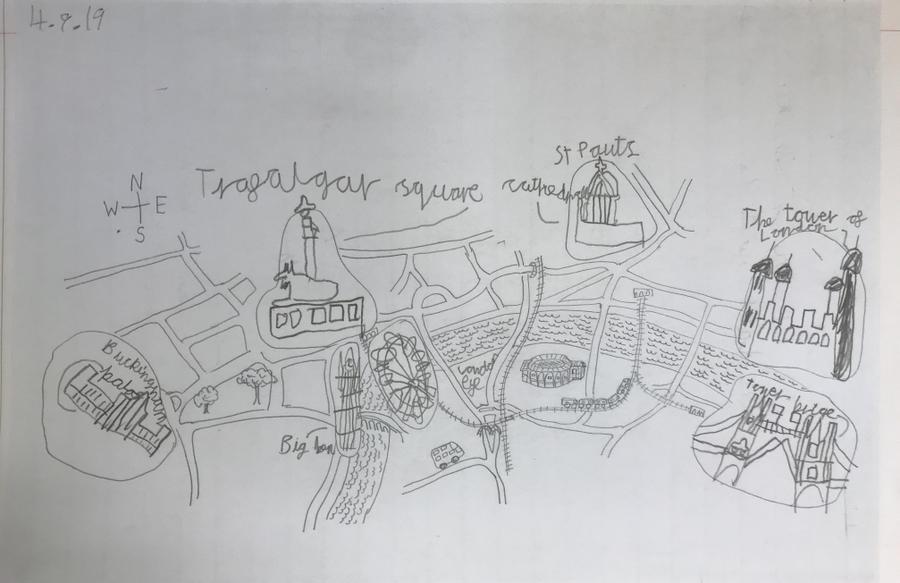 A map of London Landmarks