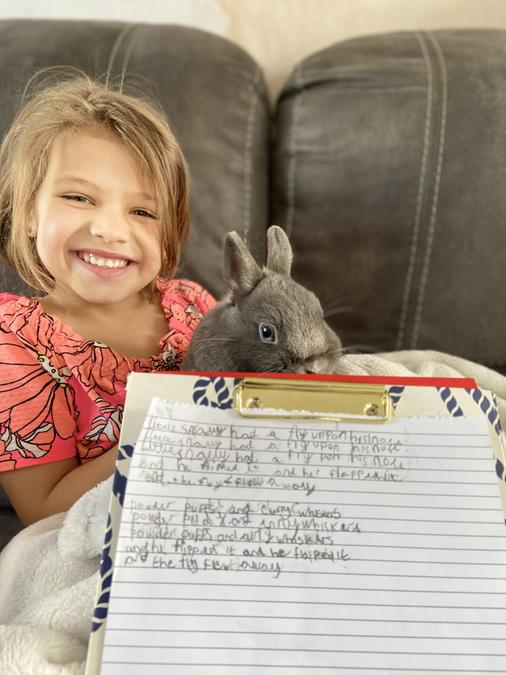 Read Louisa's super poem about her rabbit Snowy!