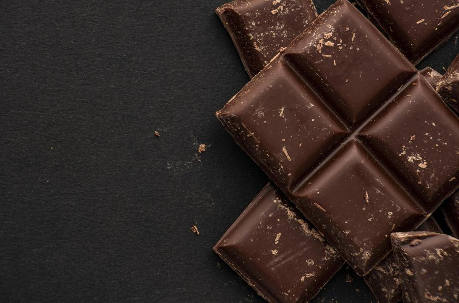 Chocolate - grown in tropical rainforests.