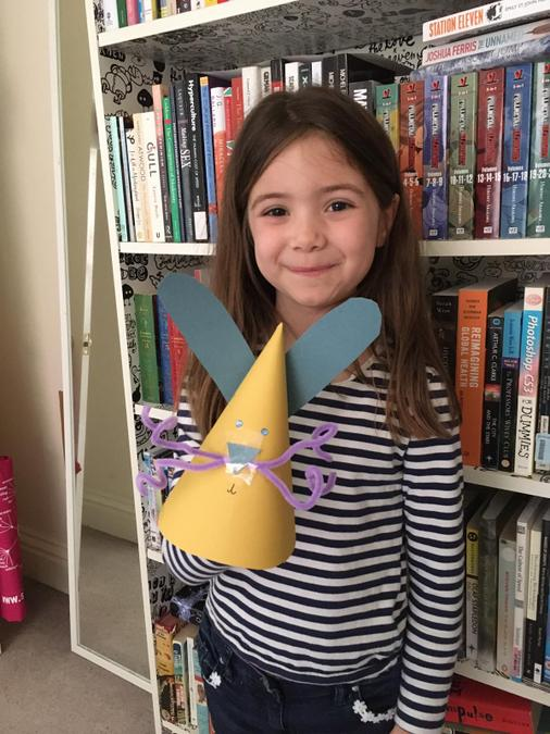 Orla created a rabbit craft for Easter!
