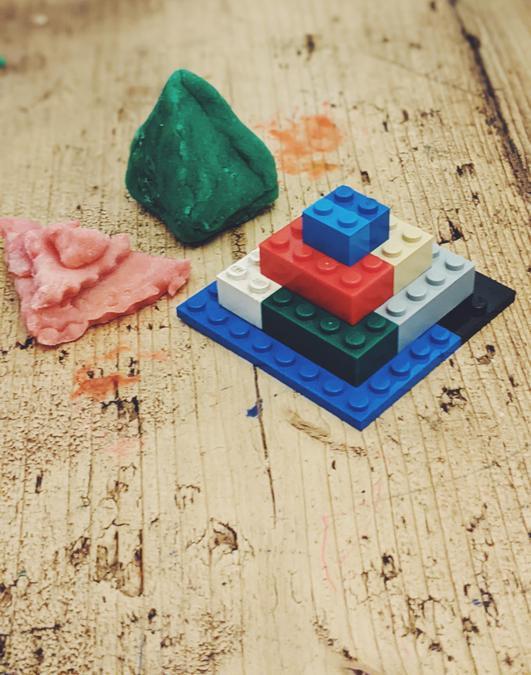 Reddings amazing pyramids using different materials.
