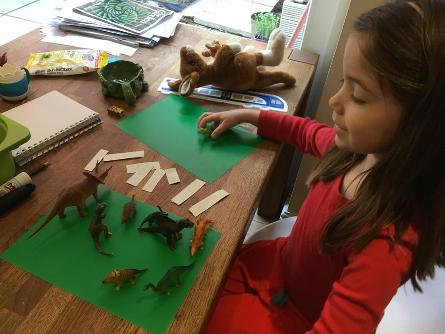 Orla's been learning about dinosaurs. Great idea!